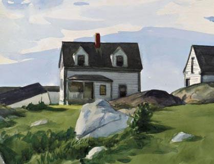 Edward-hopper-houses-of-squam-light-detail